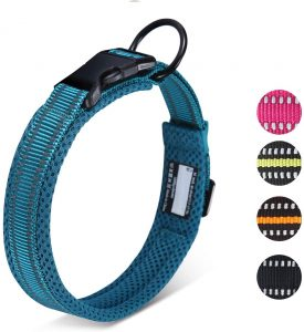 Happy hachi reflective dog collar