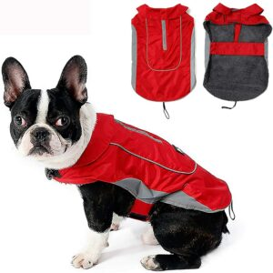 Morezi Warm Waterproof Coat for Dogs with Harness Hole